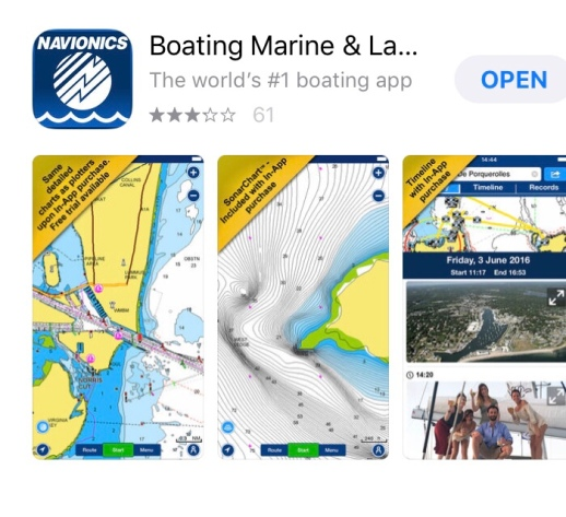 Screen shot taken from Navionics app